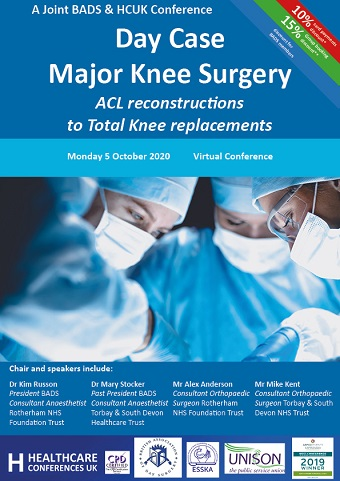 Day Case Major Knee Surgery: ACL reconstructions to Total Knee replacements